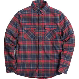 United By Blue The Responsible Flannel Top Heren, coffee